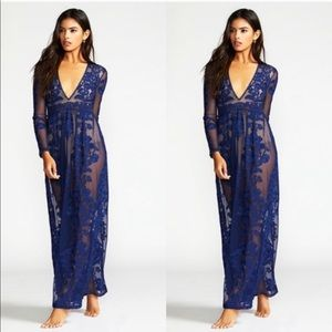 NWT Rare For Love & Lemons Temecula Maxi Dress XS